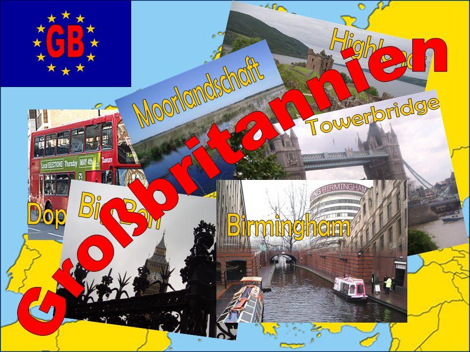 Highlands Moorlandschaft Doppeldeckerbus Towerbridge Großbritannien Birmingham Big Ben