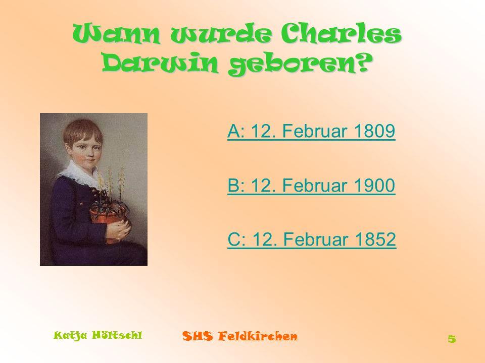 Wann wurde Charles Darwin geboren