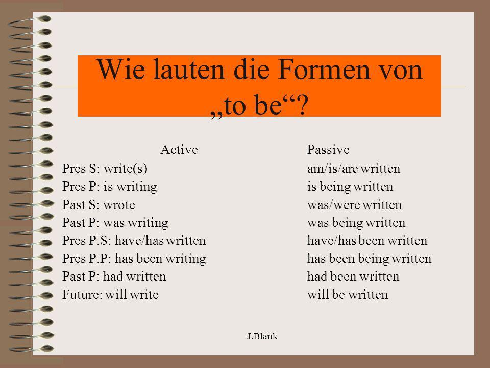 """Wie lauten die Formen von """"to be"""