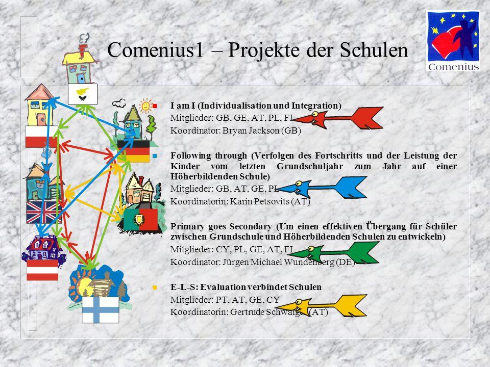 Comenius1 – Projekte der Schulen