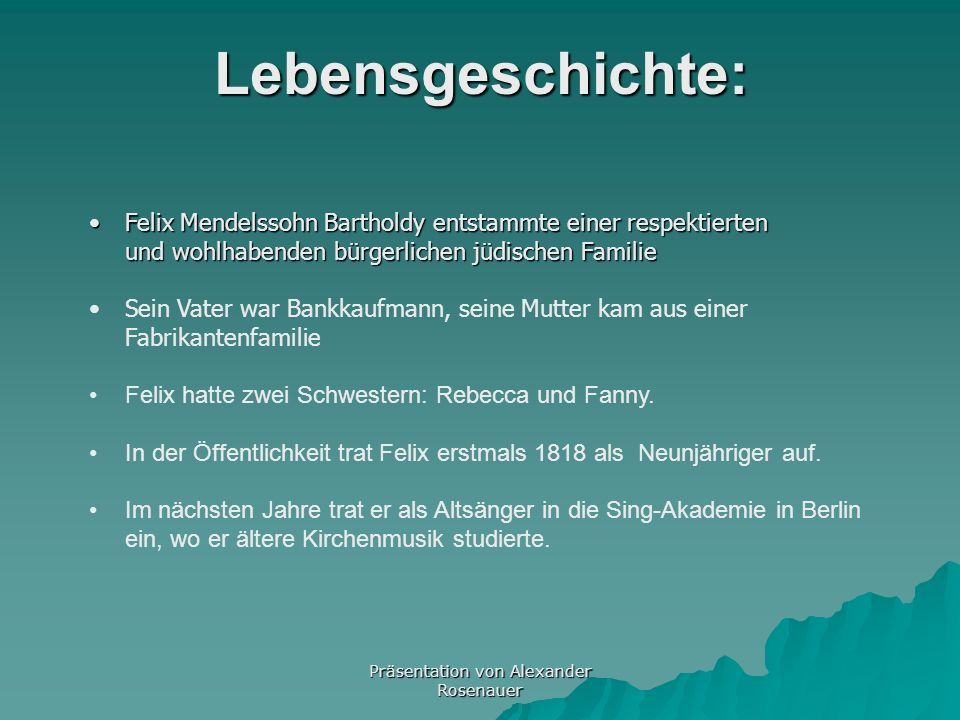 Präsentation von Alexander Rosenauer
