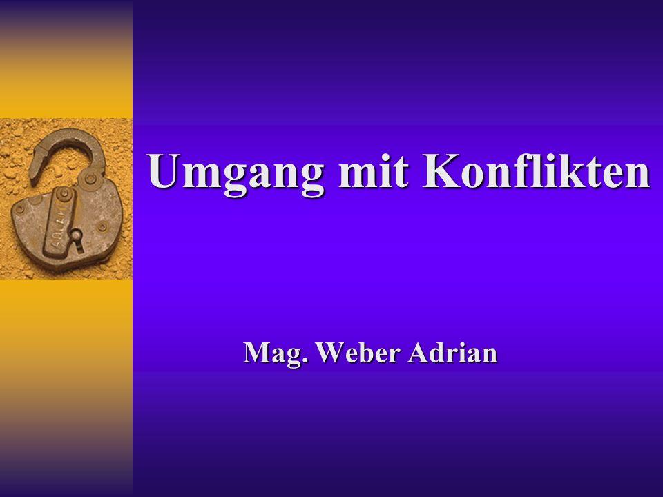 Umgang mit Konflikten Mag. Weber Adrian