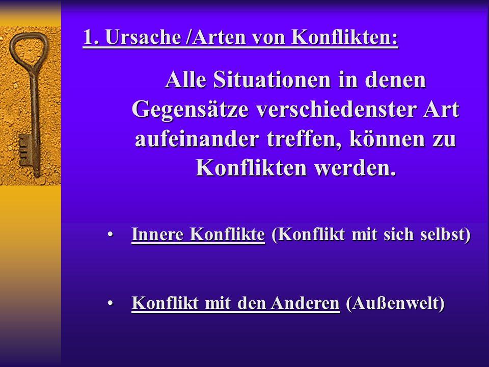 1. Ursache /Arten von Konflikten: