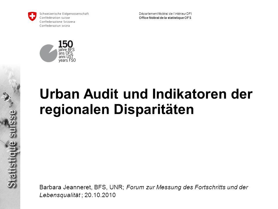 Urban Audit und Indikatoren der regionalen Disparitäten