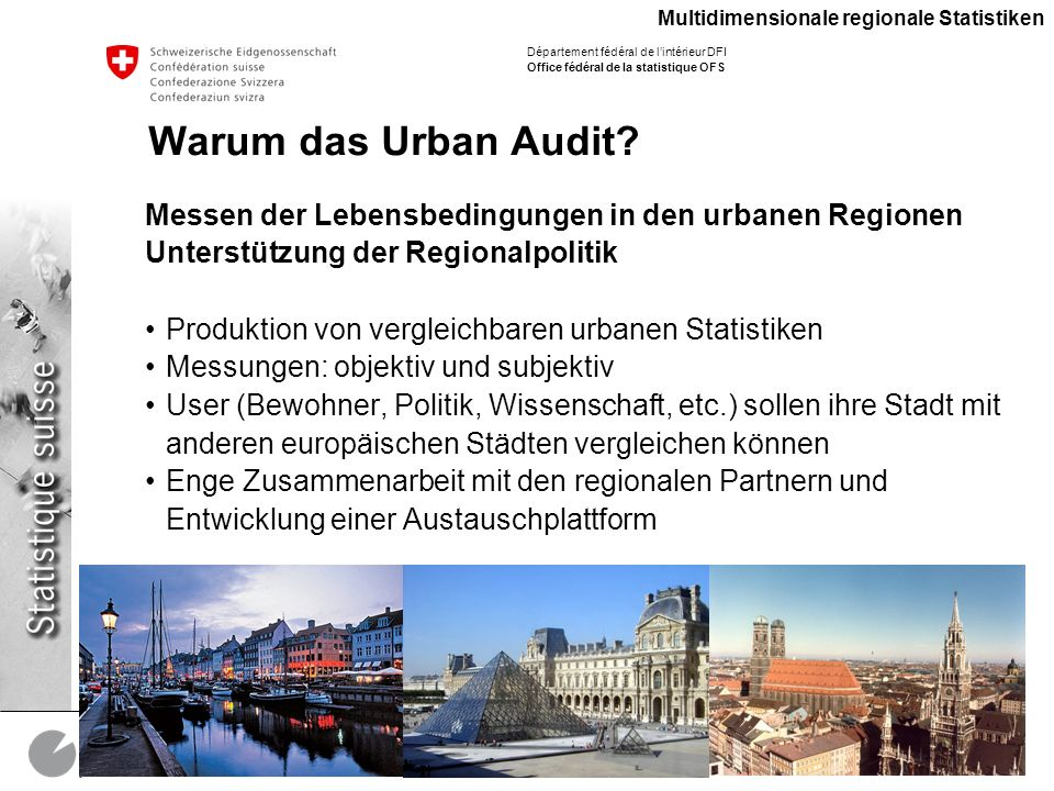 Multidimensionale regionale Statistiken