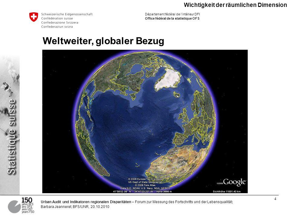 Weltweiter, globaler Bezug