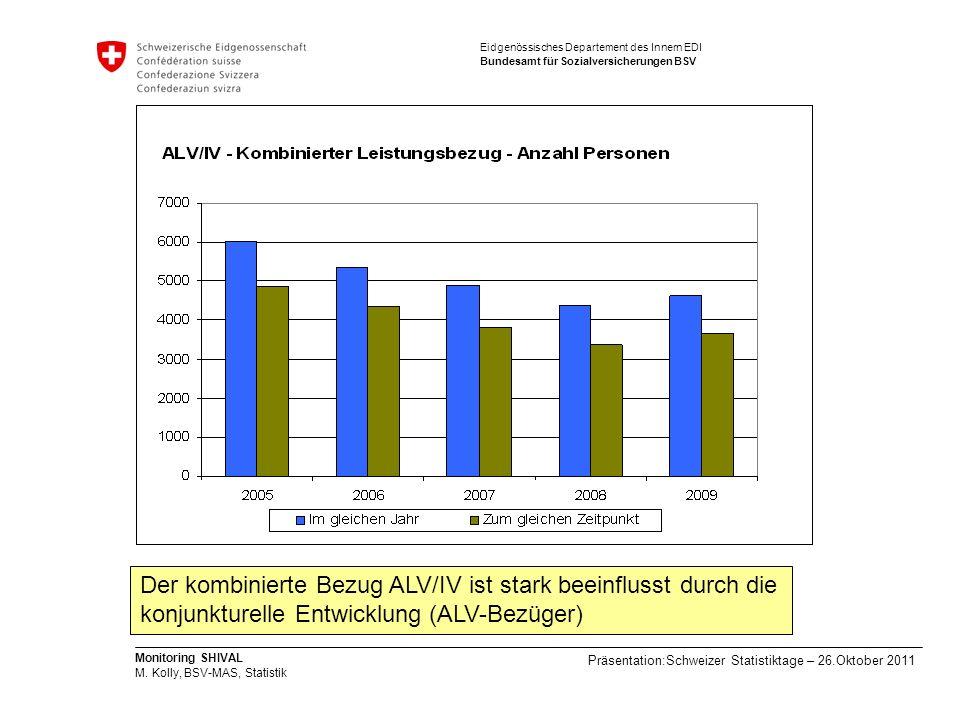 Der kombinierte Bezug ALV/IV ist stark beeinflusst durch die