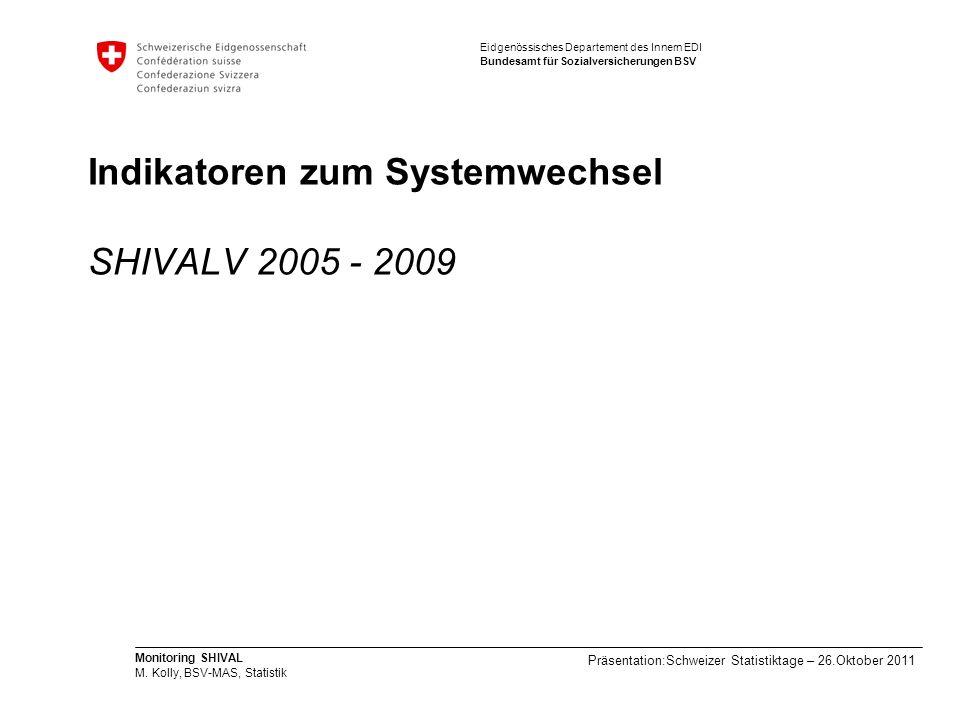 Indikatoren zum Systemwechsel SHIVALV 2005 - 2009