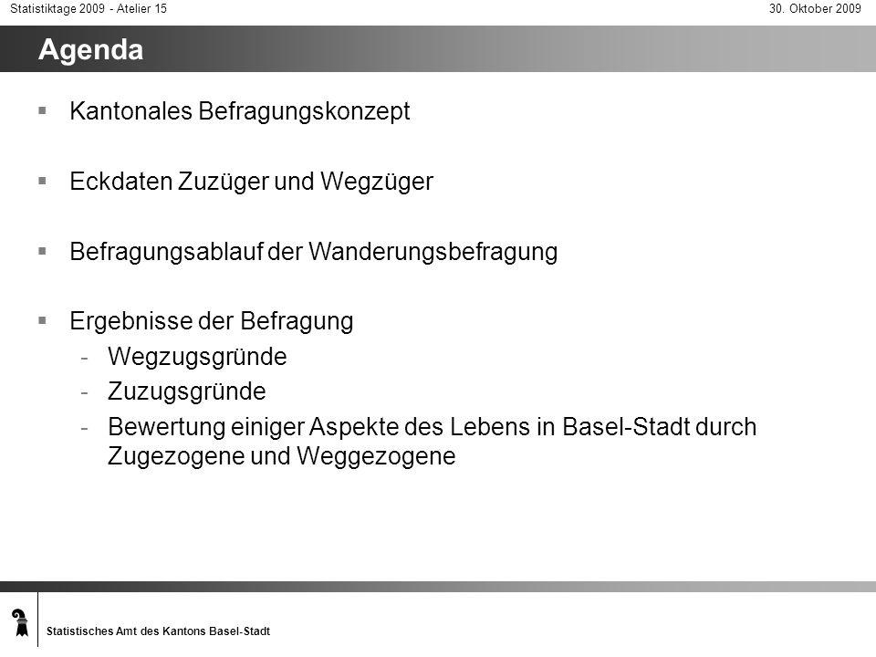 Agenda Kantonales Befragungskonzept Eckdaten Zuzüger und Wegzüger
