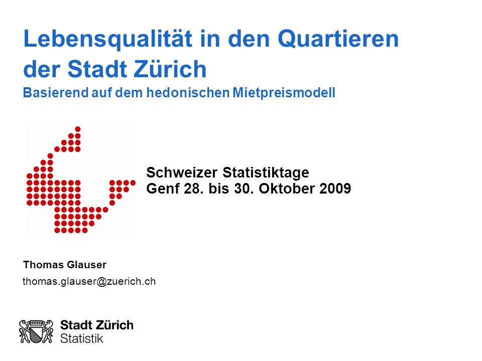 Schweizer Statistiktage Genf 28. bis 30. Oktober 2009