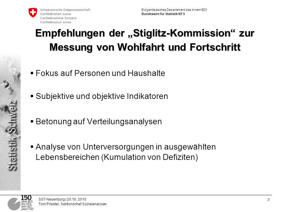 """Empfehlungen der """"Stiglitz-Kommission zur Messung von Wohlfahrt und Fortschritt"""