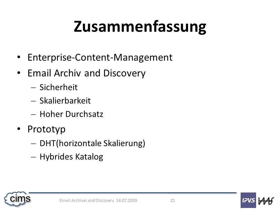 Zusammenfassung Enterprise-Content-Management