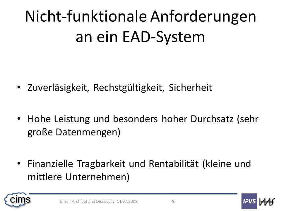 Nicht-funktionale Anforderungen an ein EAD-System