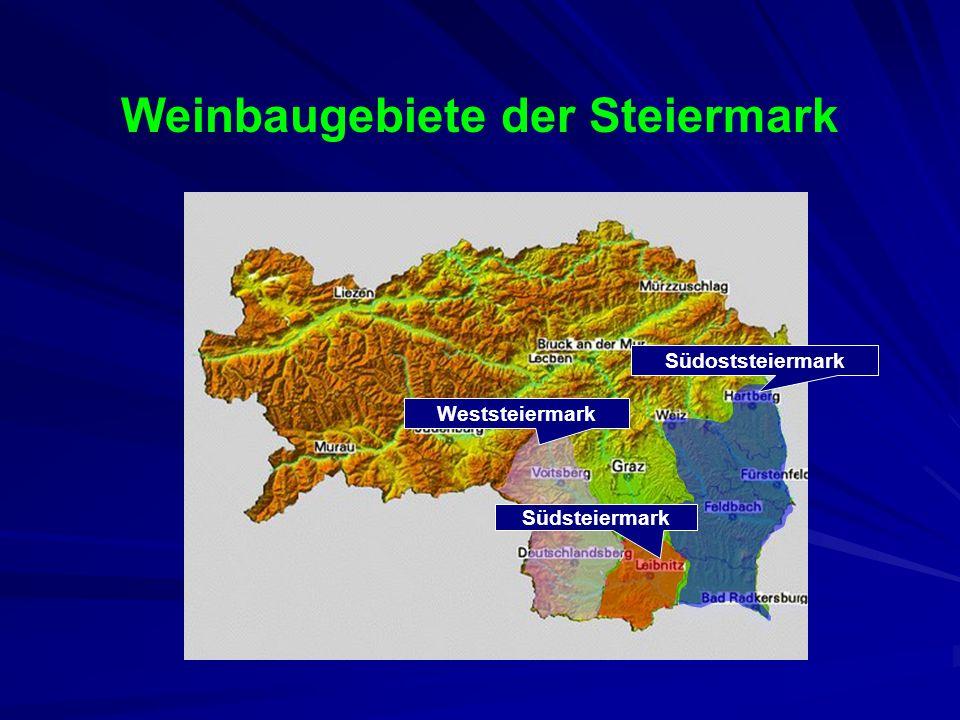 Weinbaugebiete der Steiermark
