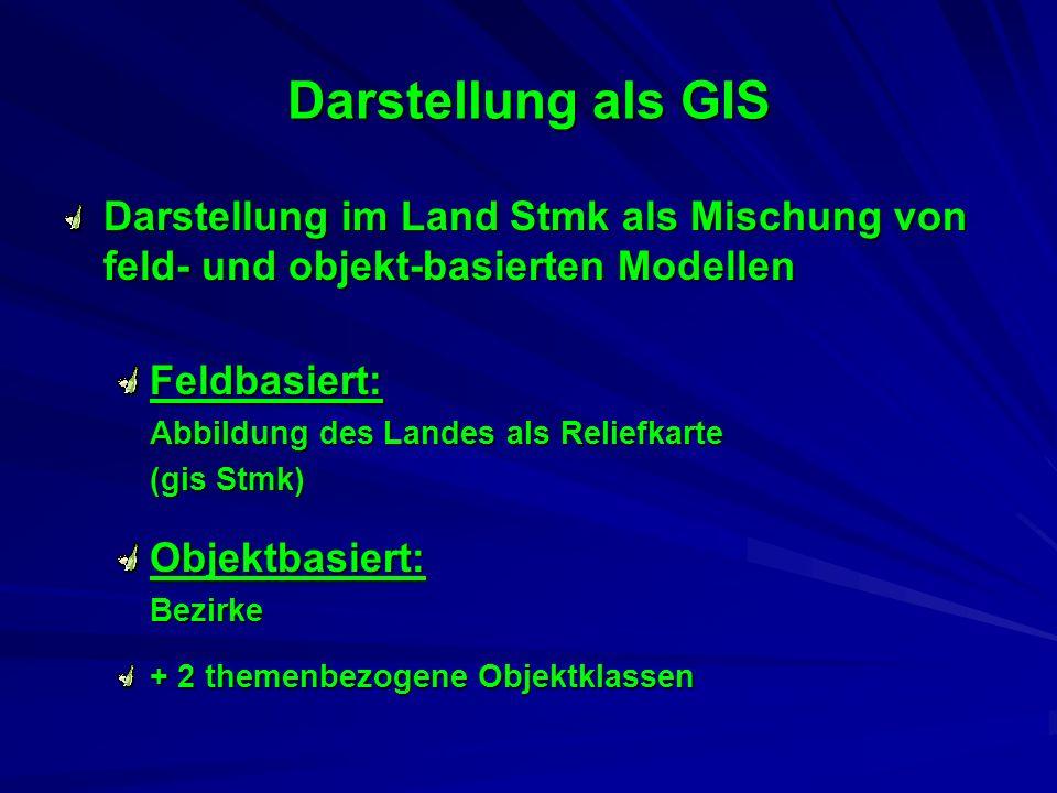 Darstellung als GIS Darstellung im Land Stmk als Mischung von feld- und objekt-basierten Modellen.