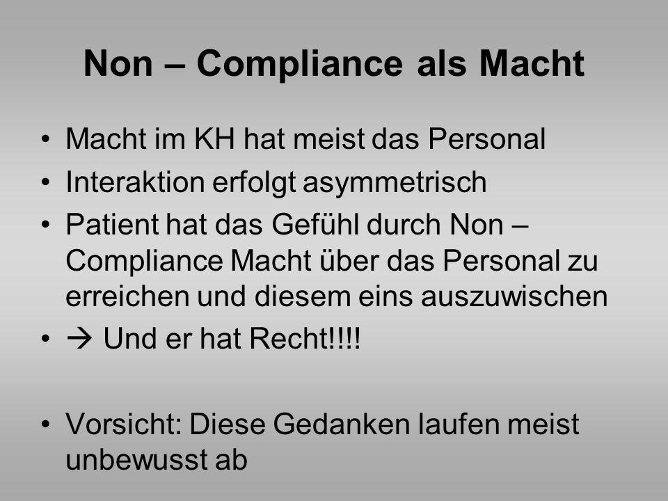 Non – Compliance als Macht