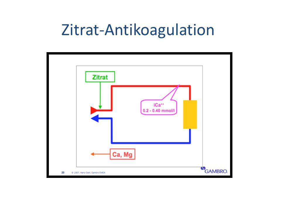 Zitrat-Antikoagulation