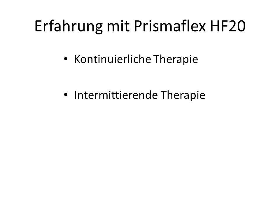 Erfahrung mit Prismaflex HF20
