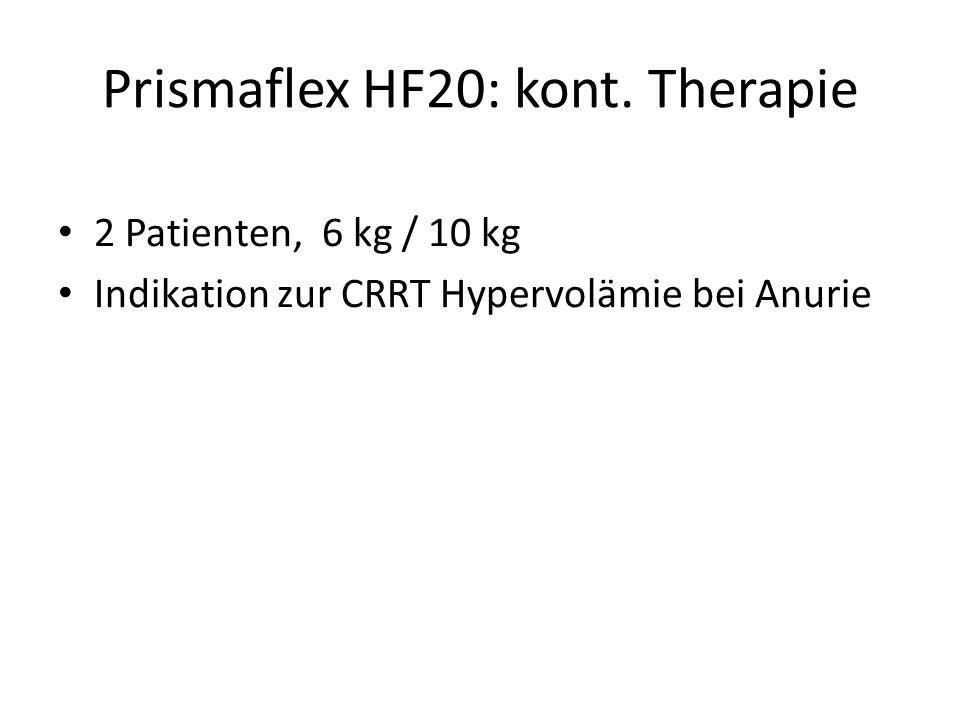 Prismaflex HF20: kont. Therapie
