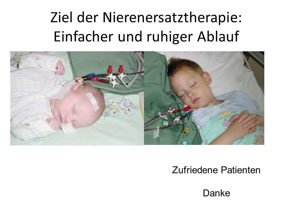 Ziel der Nierenersatztherapie: Einfacher und ruhiger Ablauf
