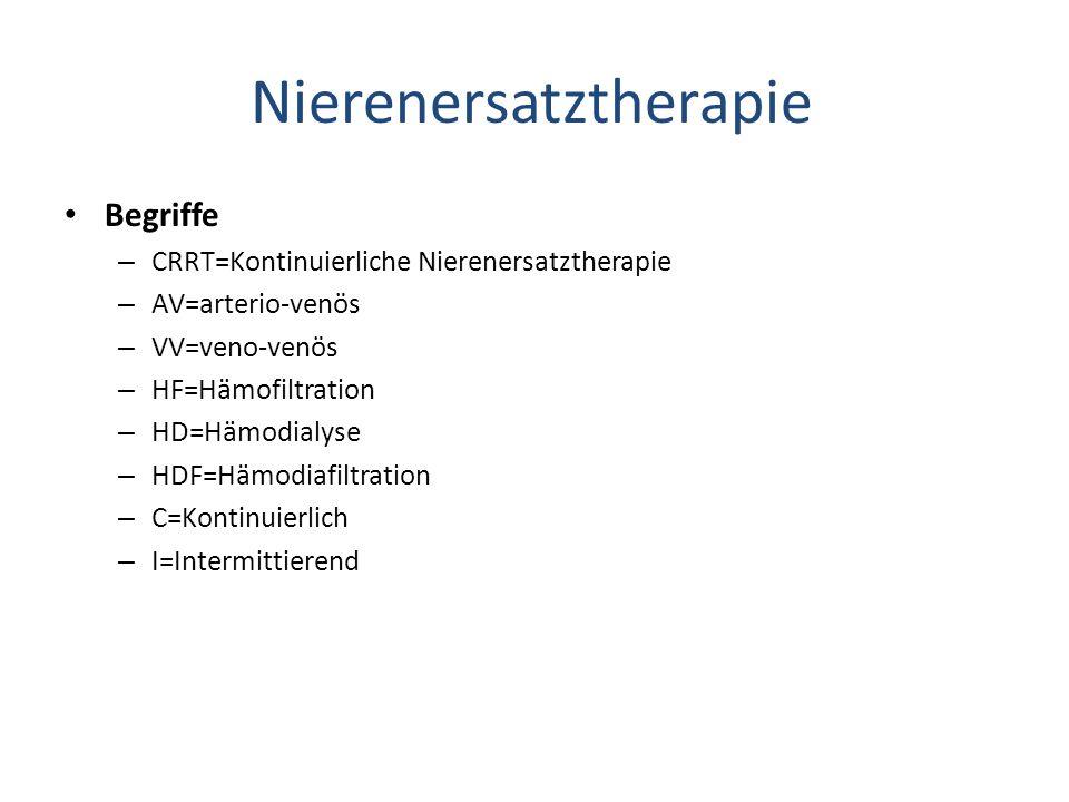 Nierenersatztherapie