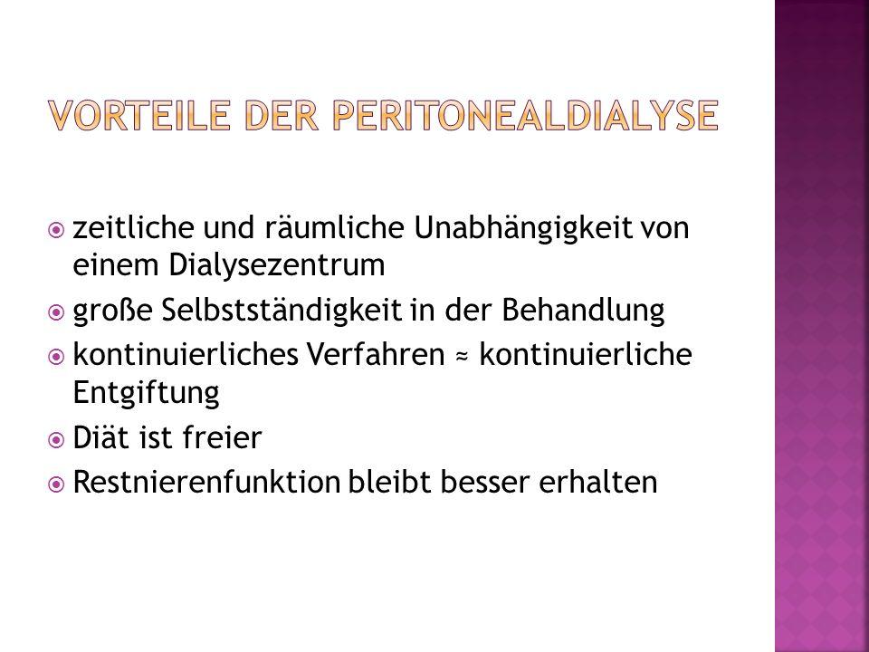 Vorteile der Peritonealdialyse