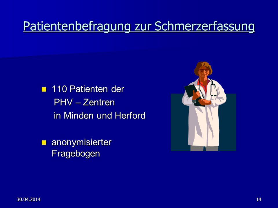 Patientenbefragung zur Schmerzerfassung