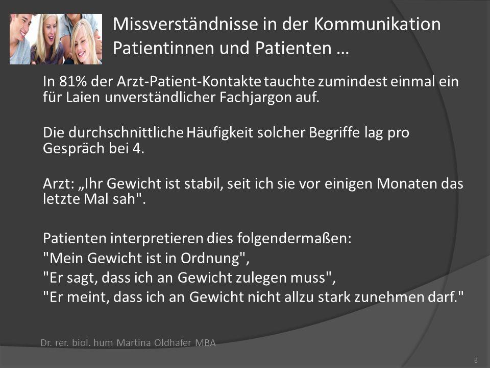 Missverständnisse in der Kommunikation Patientinnen und Patienten …