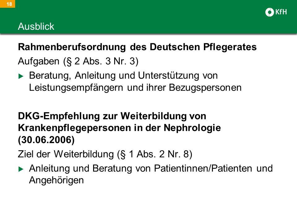 Rahmenberufsordnung des Deutschen Pflegerates