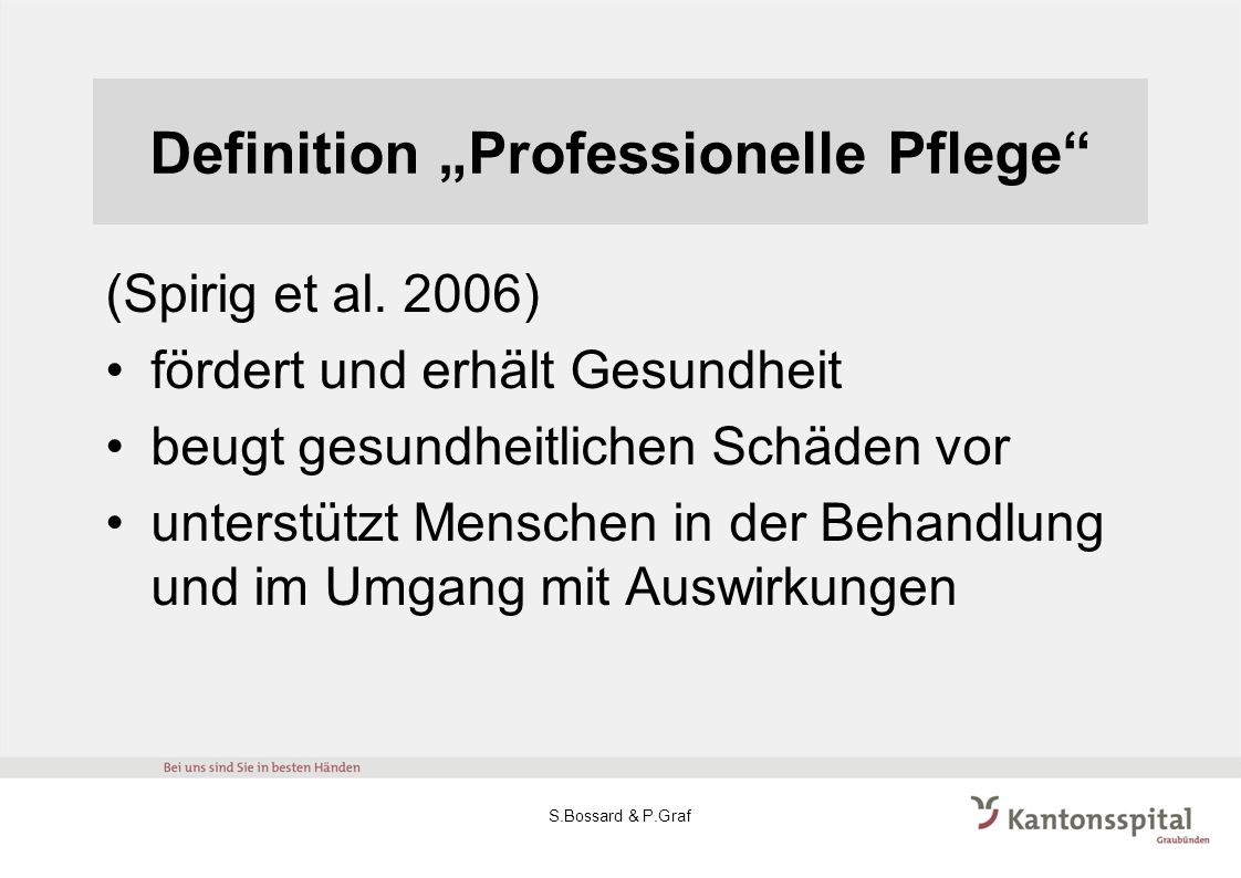 "Definition ""Professionelle Pflege"