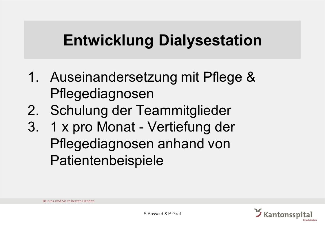 Entwicklung Dialysestation