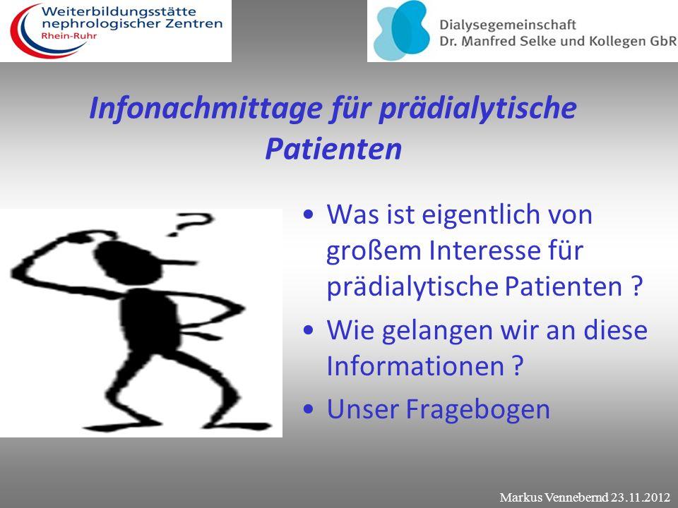 Infonachmittage für prädialytische Patienten