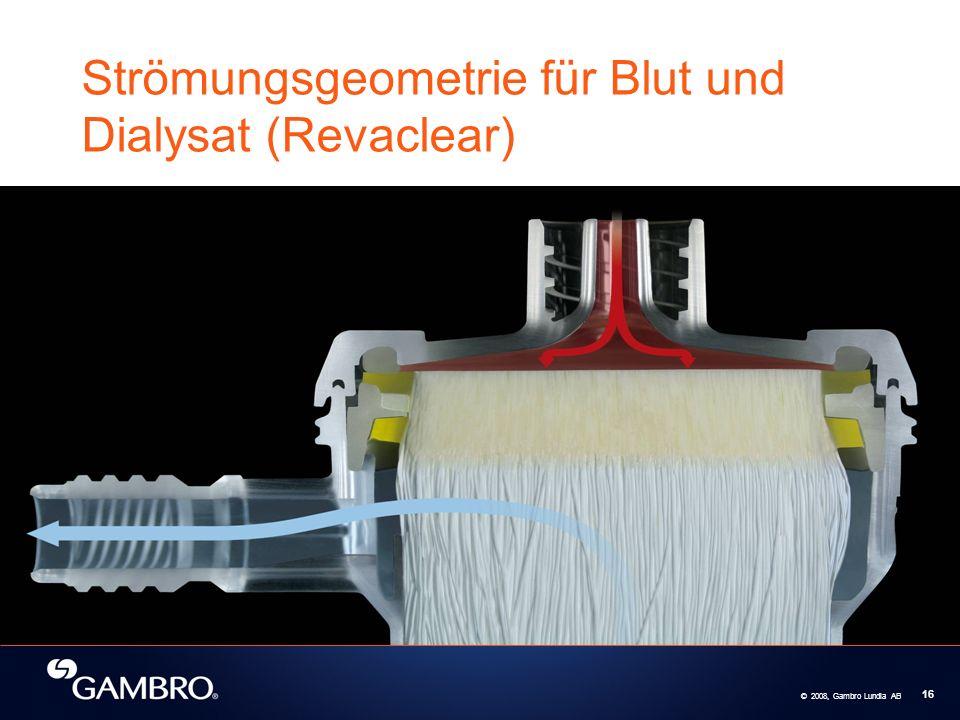 Strömungsgeometrie für Blut und Dialysat (Revaclear)