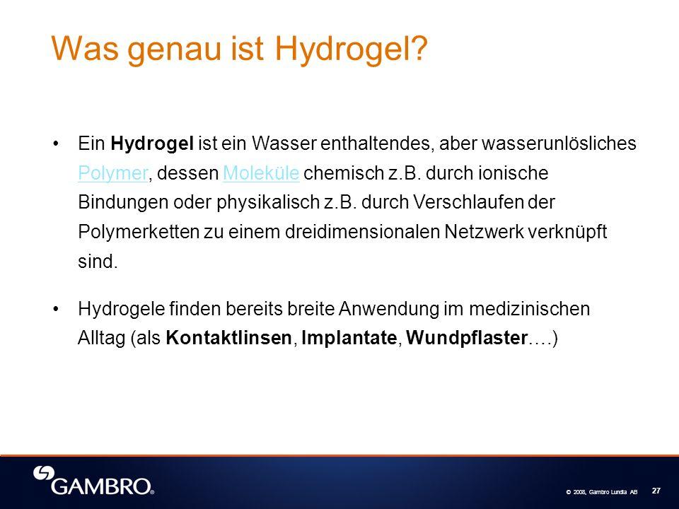 Was genau ist Hydrogel