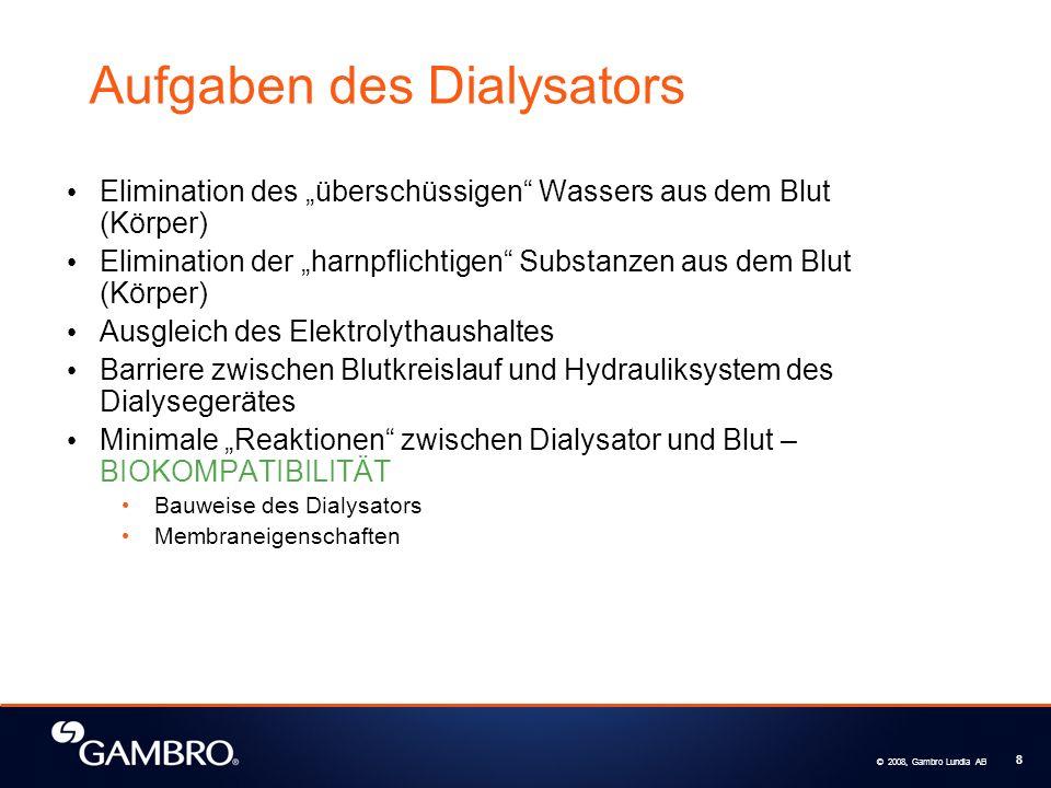 Aufgaben des Dialysators