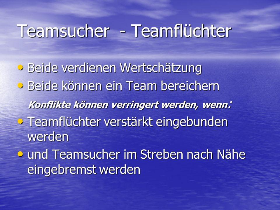 Teamsucher - Teamflüchter