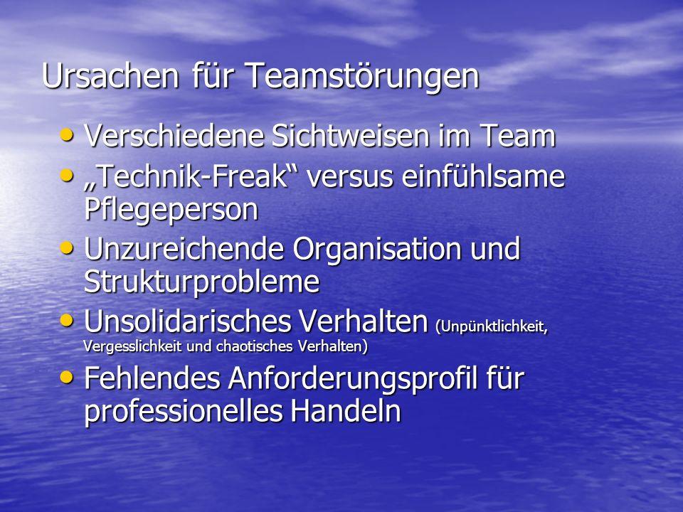 Ursachen für Teamstörungen