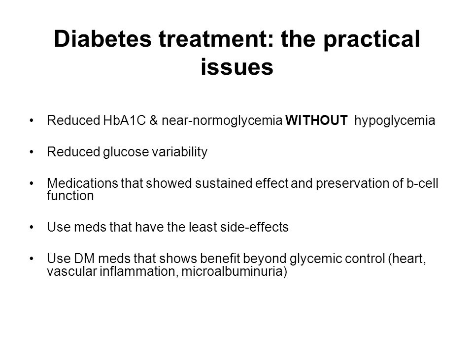 Diabetes treatment: the practical issues