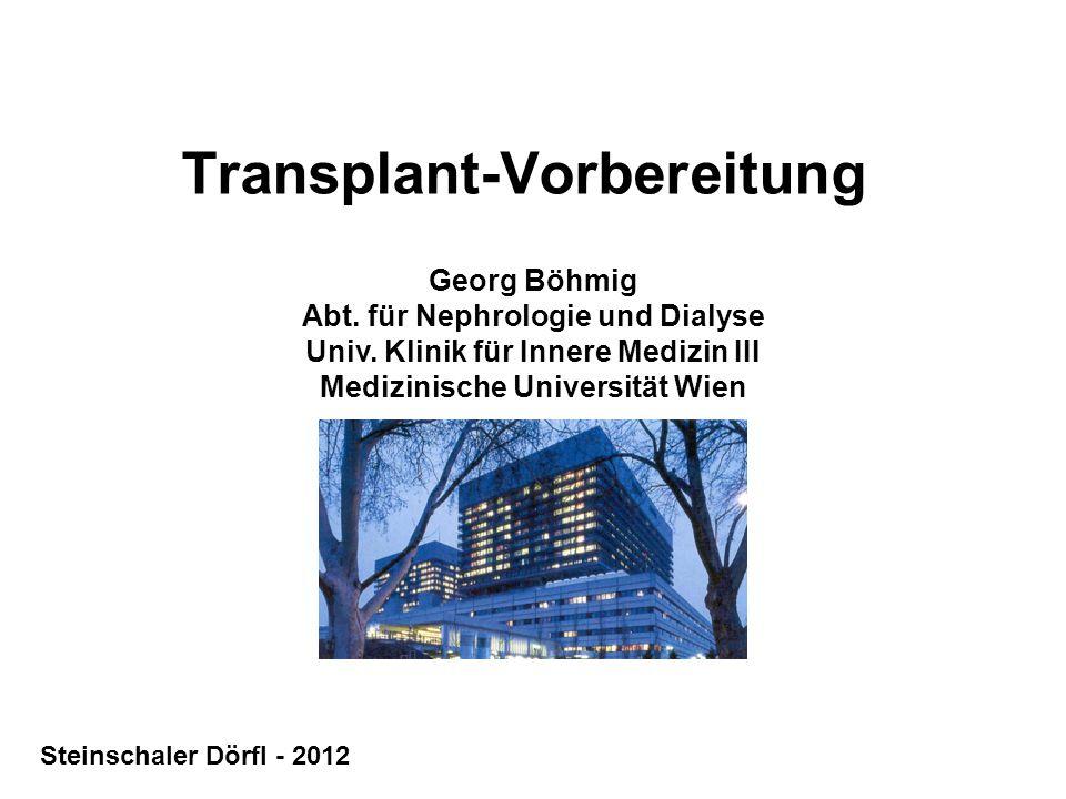 Transplant-Vorbereitung