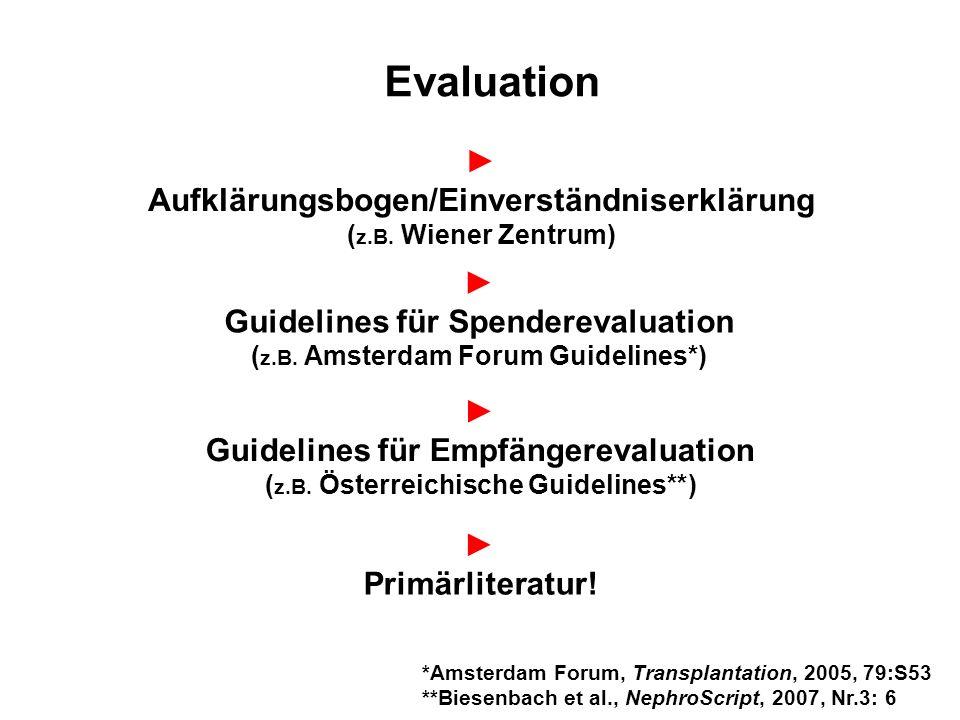 Evaluation ► Aufklärungsbogen/Einverständniserklärung ►