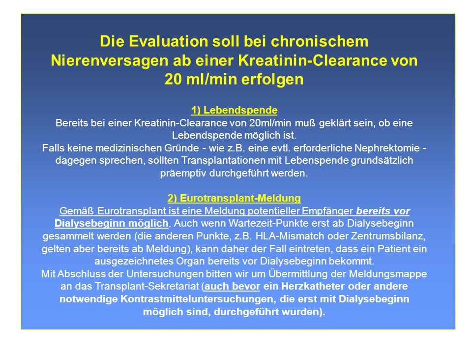 2) Eurotransplant-Meldung