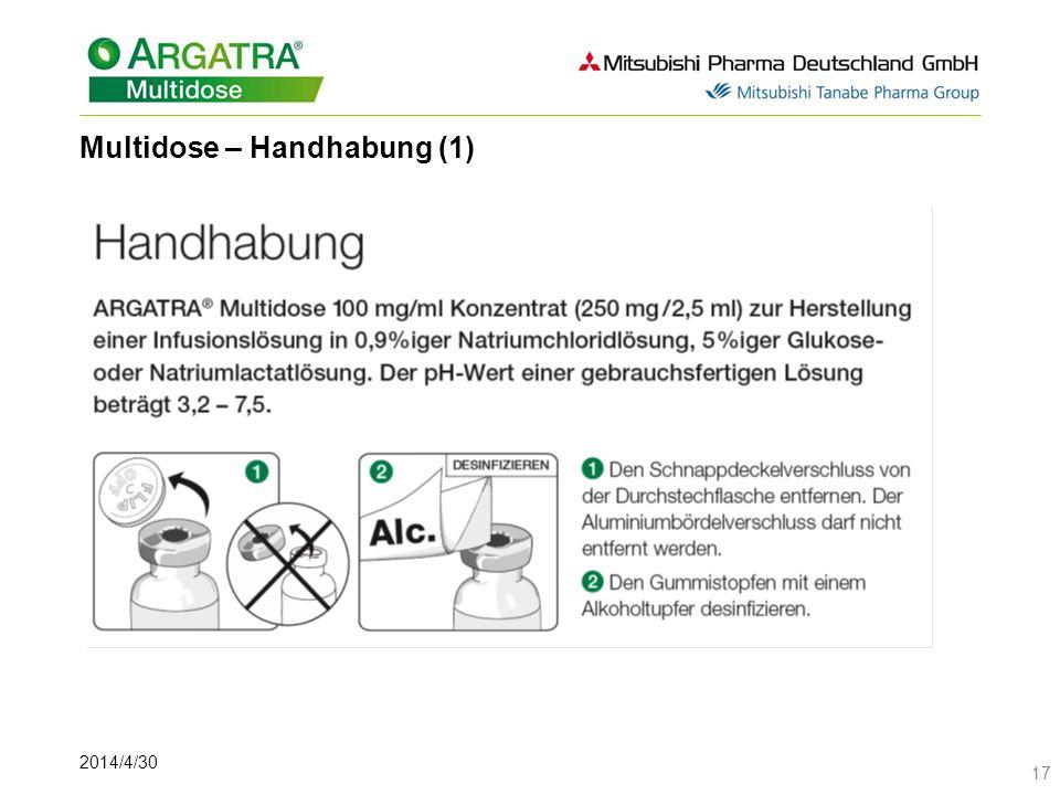 Multidose – Handhabung (1)