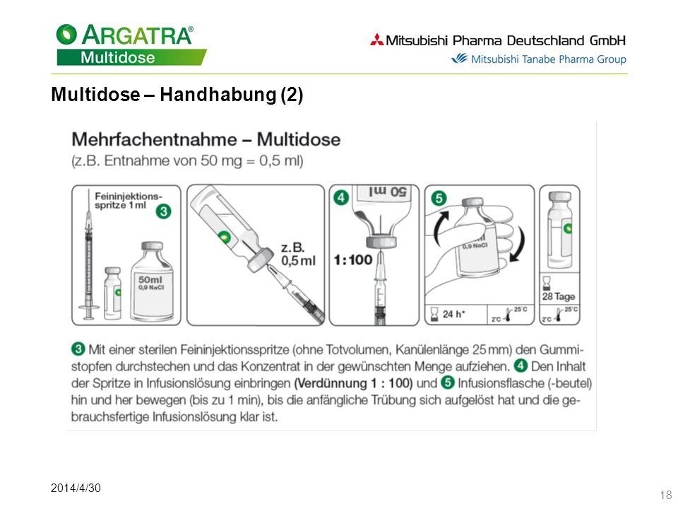Multidose – Handhabung (2)