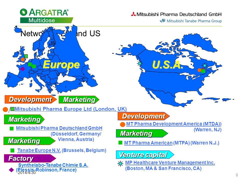 Europe U.S.A. Network in EU and US Development Marketing Development