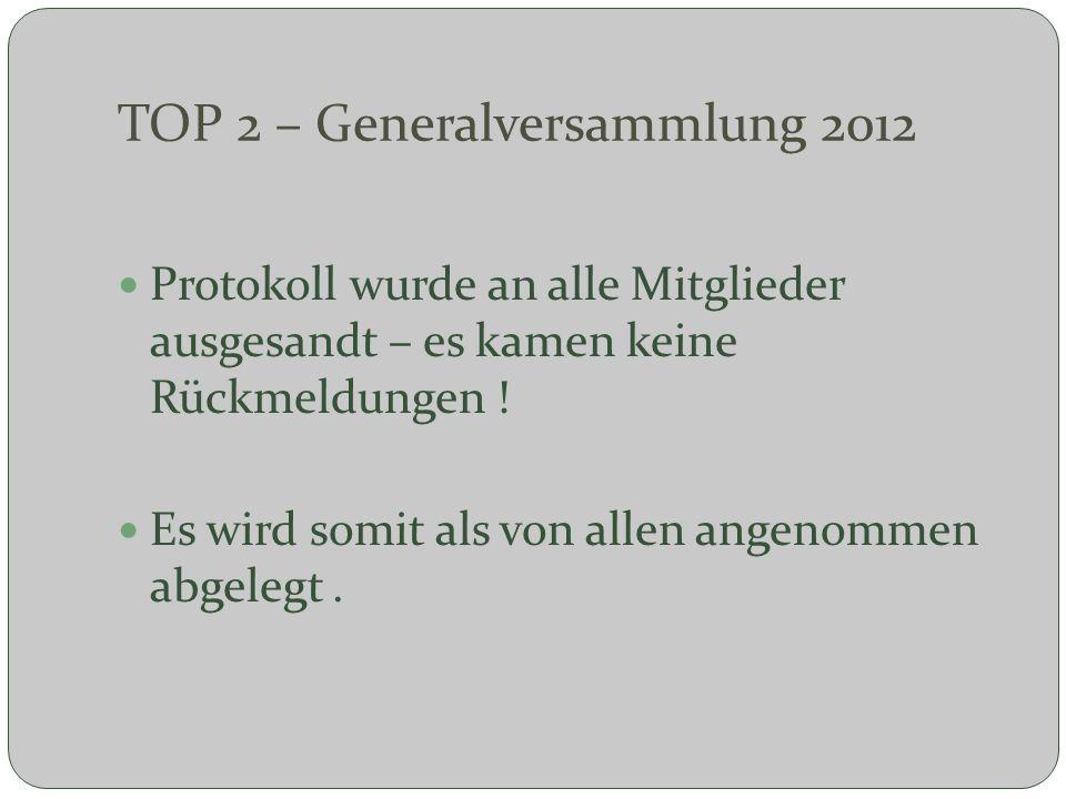 TOP 2 – Generalversammlung 2012