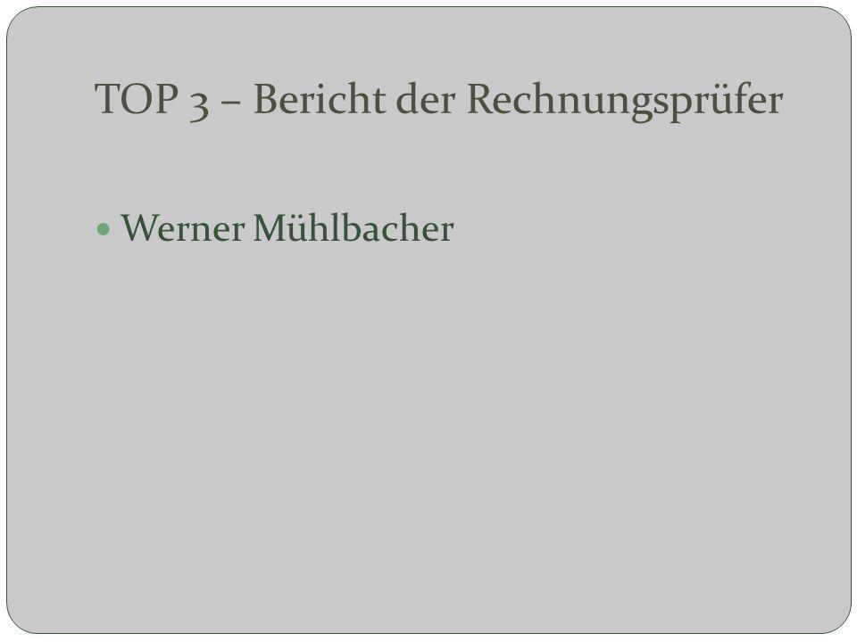 TOP 3 – Bericht der Rechnungsprüfer