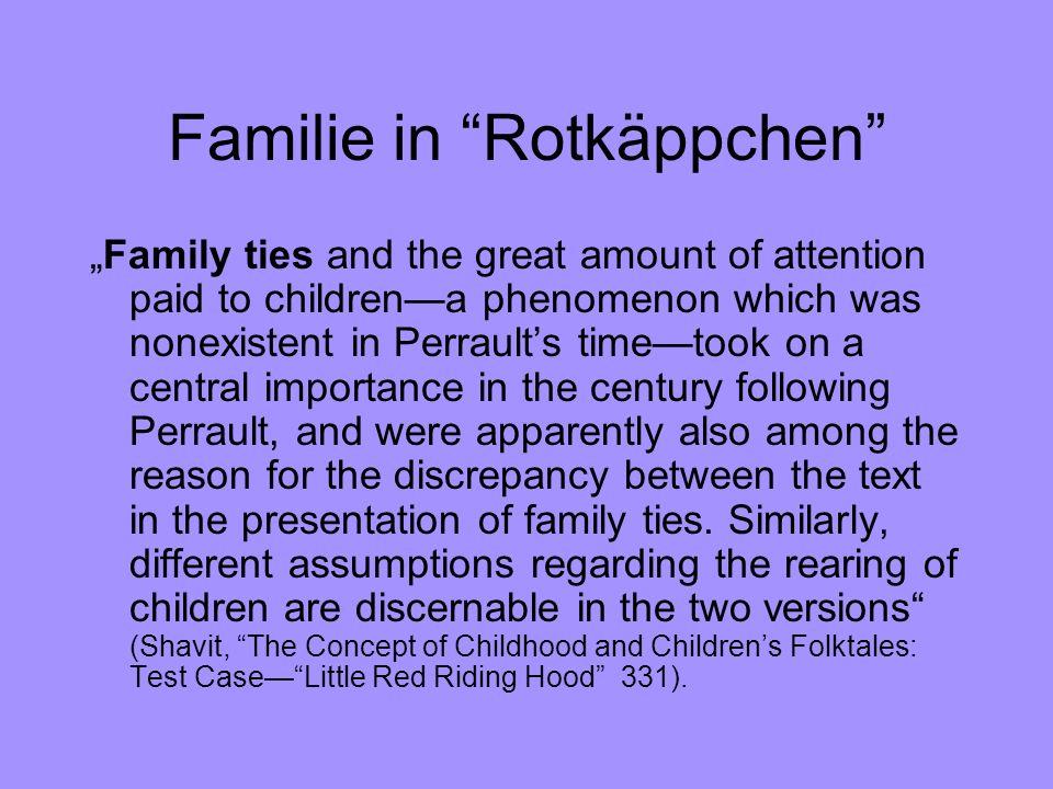 Familie in Rotkäppchen