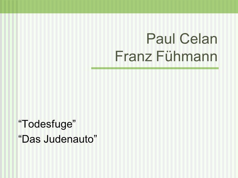 Paul Celan Franz Fühmann