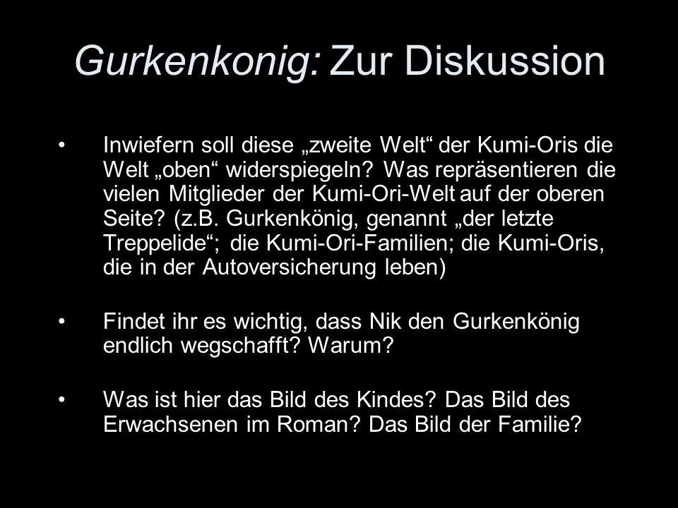Gurkenkonig: Zur Diskussion