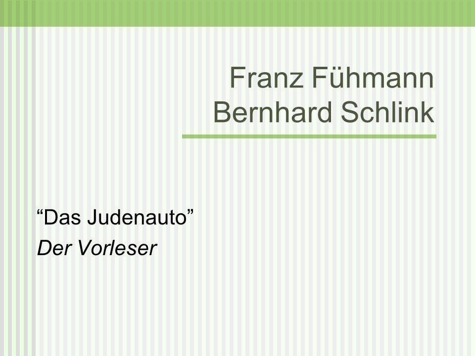 Franz Fühmann Bernhard Schlink
